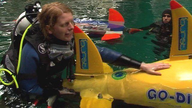Submarine team from Bath University