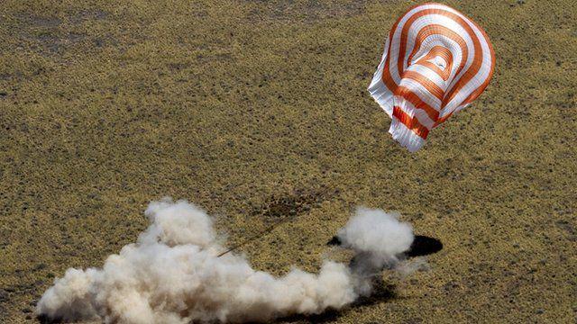 Russian Soyuz space capsule