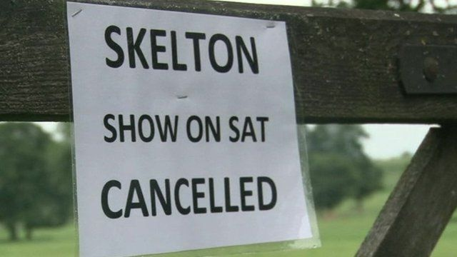 Skelton show is cancelled due to weather conditions