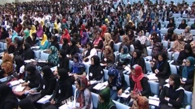 Young Afghan women and men from the National Youth Jirga
