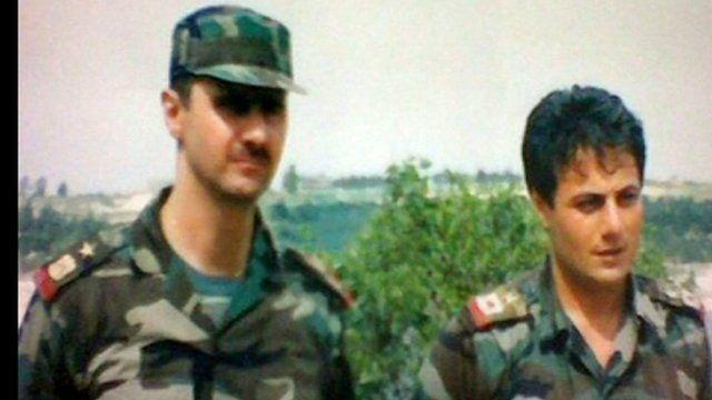 Bashar al-Assad and Manaf Tlas