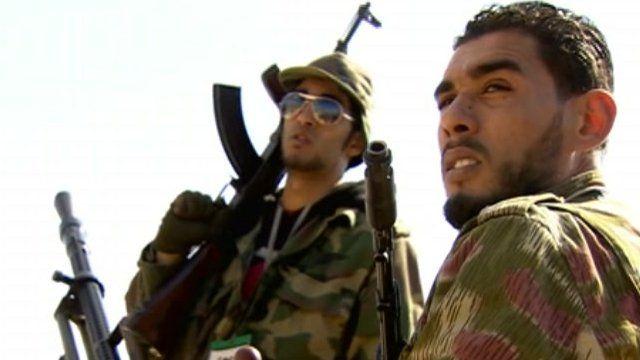 Armed men in Libya