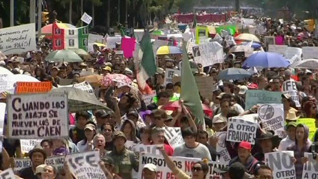 Mexico City protest