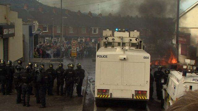 Disturbances in north Belfast
