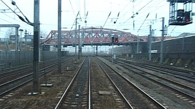electrified train track