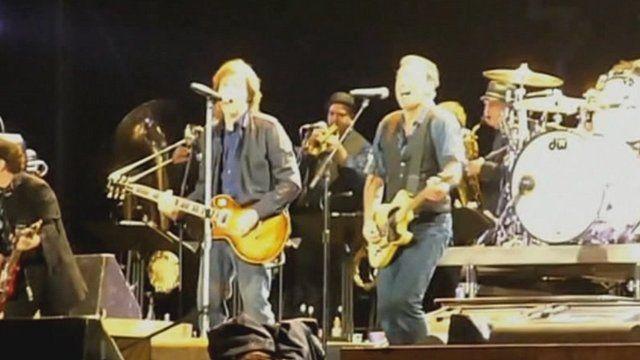Sir Paul McCartney and Bruce Springsteen