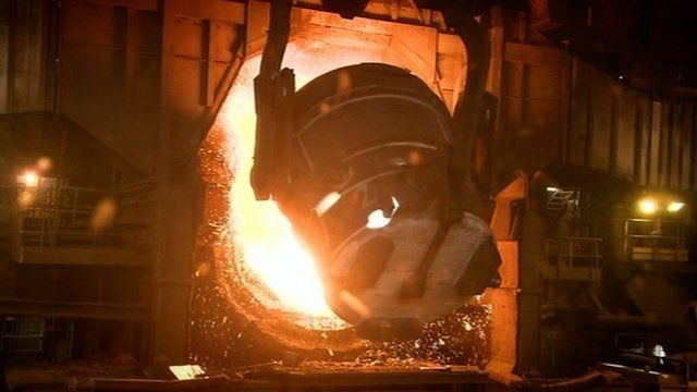 The process of making steel from the recycled carcass of a ship