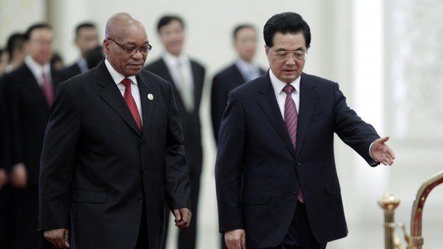 Jacob Zuma and Hu Jintao
