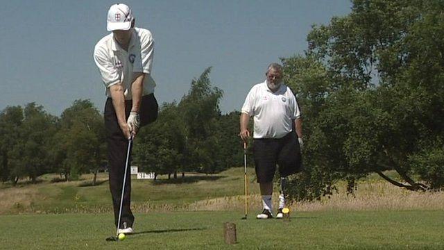 Disabled England golfer Stan Bembenek