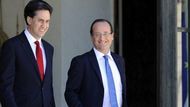Ed Miliband and Francois Hollande