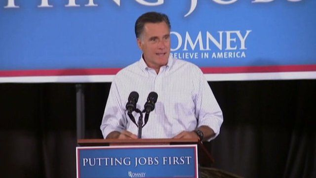 Mitt Romney speaking in Las Vegas