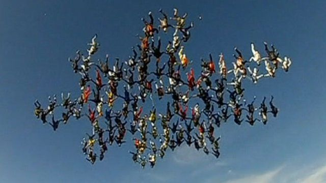 Vertical skydivers