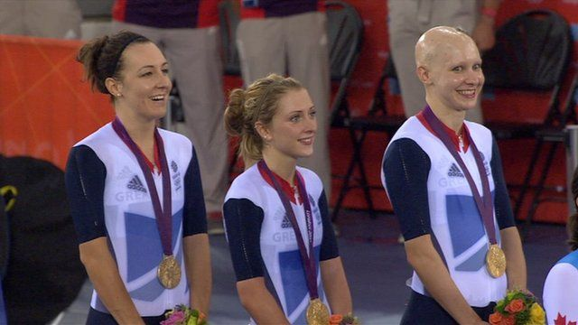 Laura Trott, Dani King and Jo Rowsell