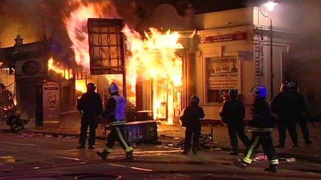 Riots in Tottenham, London, in August 2011
