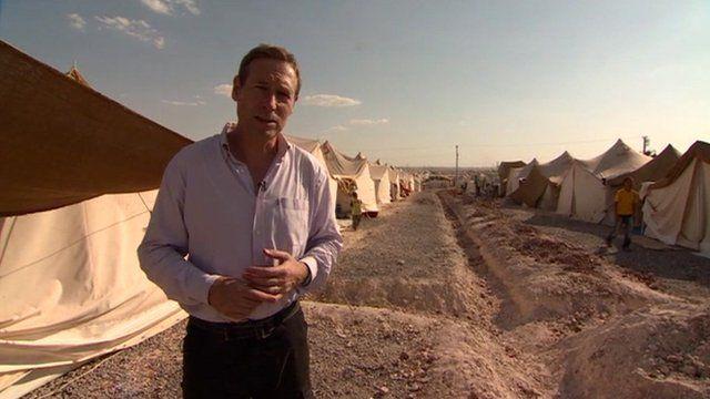Richard Galpin visits a refugee camp in Turkey