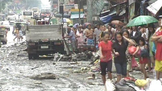 Severe flooding in Manila