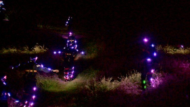 Runners covered in lights