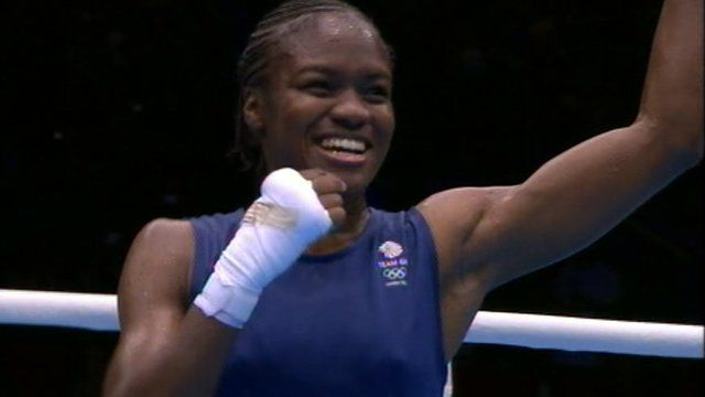 Nicola Admans takes the applause at the end of her bout