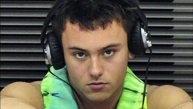 Tom Daly wearing headphones