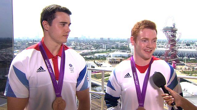 GB gymnasts Kristian Thomas and Daniel Purvis