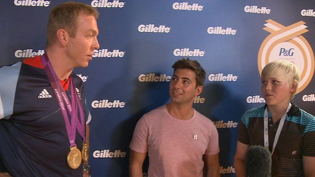 Chris Hoy is put on the spot by two young people