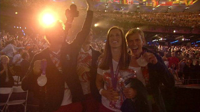 British athletes show off Olympic medals