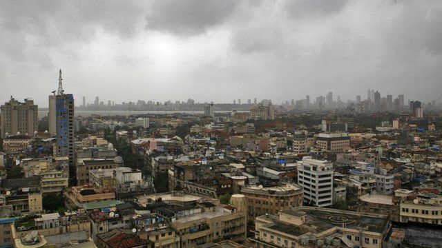 Monsoon clouds loom over Mumbai