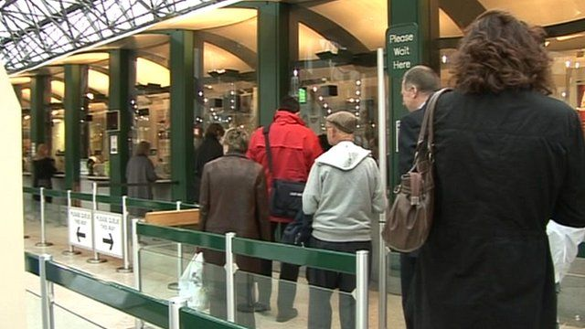Queue for train tickets