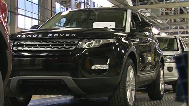Land Rover car at Halewood