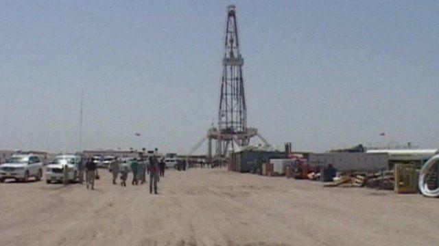 An oil well in Iraq