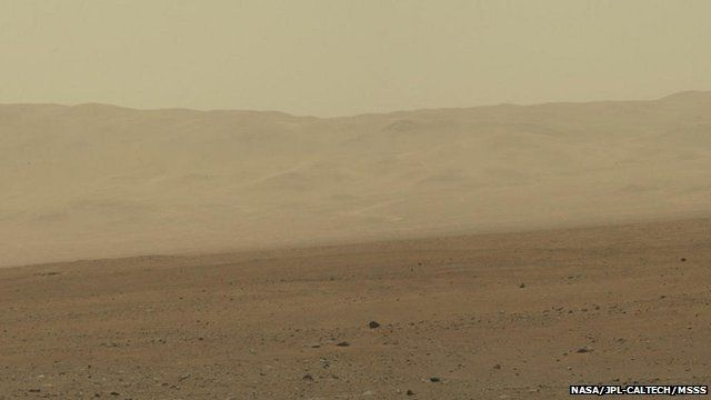 Gale Crater's northern wall