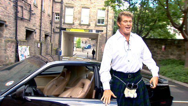 David Hasselhoff in Edinburgh