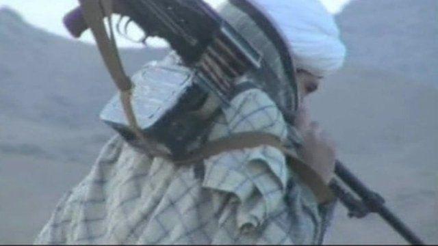 A Taliban fighter