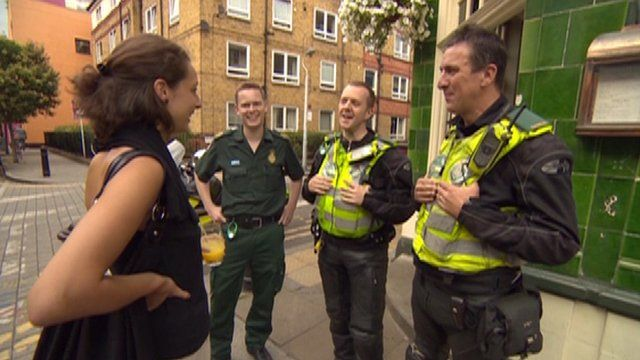 Erica Payet with paramedics