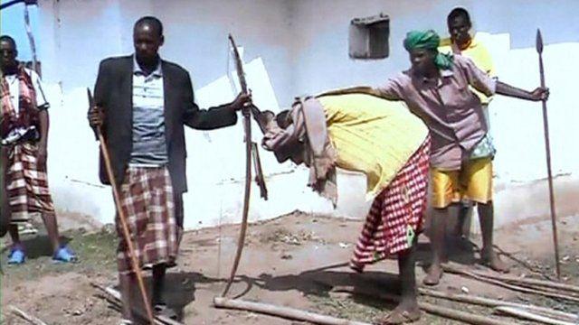 Hurt and grieving Kenyan men