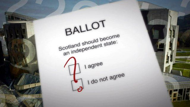 Pro-union question for Scottish independence referendum