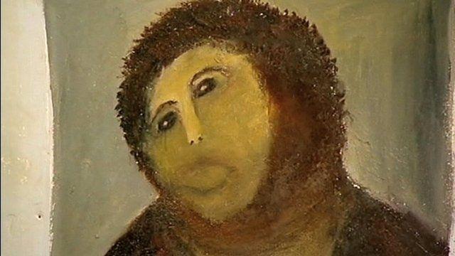 Ecce Homo, after Cecilia Gimenez' restoration