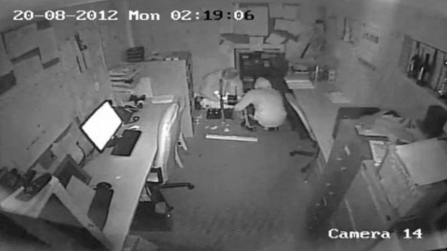 CCTV footage of money for Corin Potts' operation stolen
