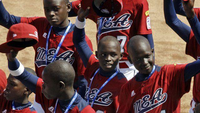Ugandan little league team