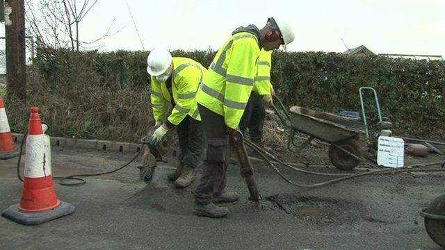Potholes being mended in Kent