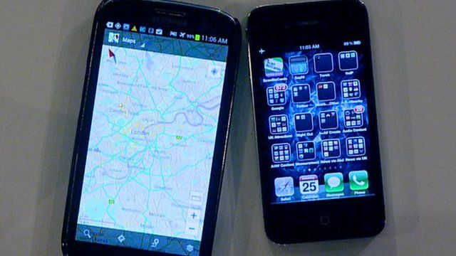 Samsung and Apple mobile phones