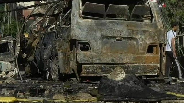 Burnt out vehicle