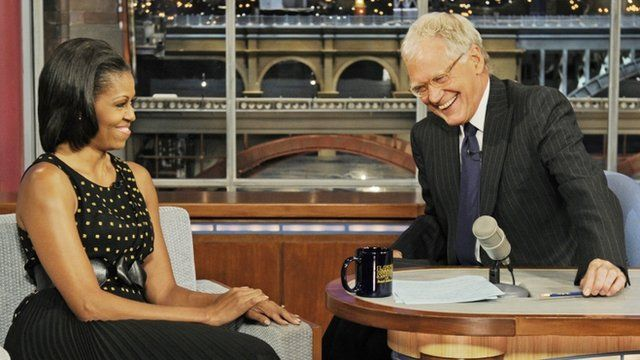 Michelle Obama on the Late Show with David Letterman
