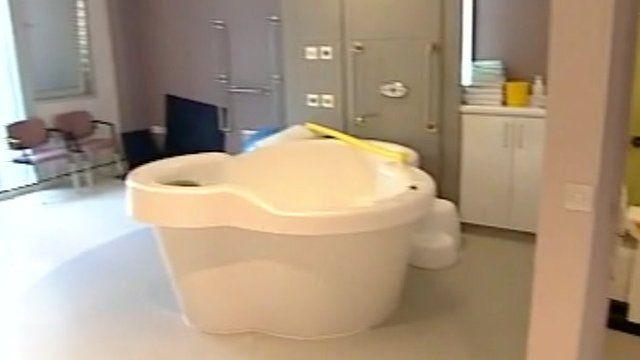 Birthing pool at Rosie Maternity Hospital