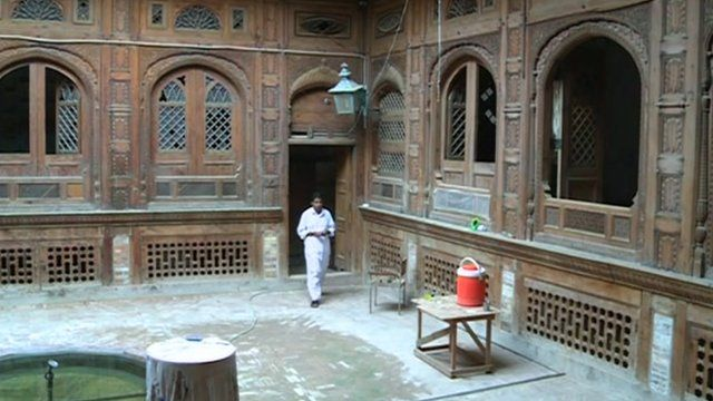 Courtyard of the historic house in Peshawar