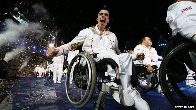 Welsh wheelchair rugby player David Anthony at the Paralympic opening ceremony