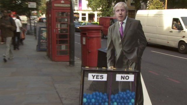 Boris Johnson and the mood box