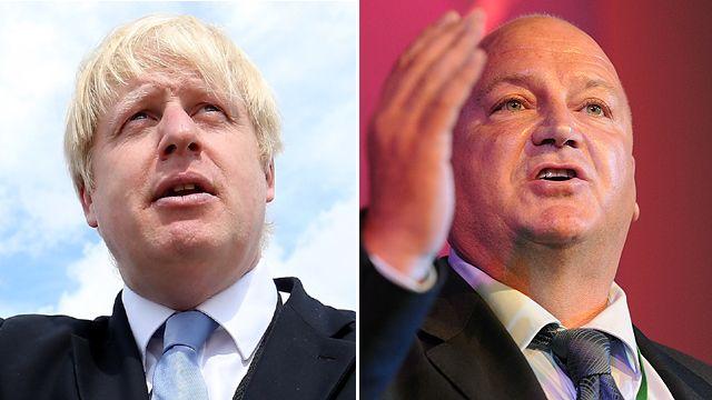 Boris Johnson (l) and Bob Crow