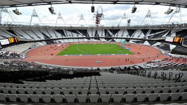 Inside Olympic stadium