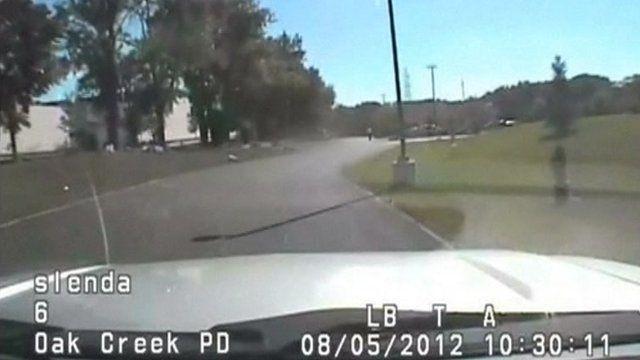Still from police dashboard camera